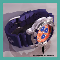 racer wristwatch equipment sport 3d max