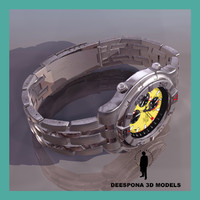 3d racer wristwatch wrist watch model