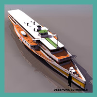 3d rheundampfer goethe steam ship