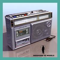 radio cassette sanyo m 3d max