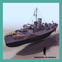 hmcs snowberry allied escort 3d model