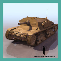 3d max semovente italian light tank