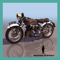 3d vincent black shadow motorcycle model