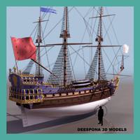 3d model la sirene ship line