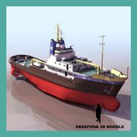 smit rotterdam ship ocean 3d model
