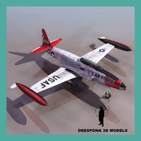 jet trainer 1950 t 3d max