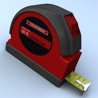 tape measurer 3d 3ds