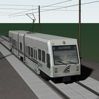 transport train light rail 3d lwo