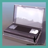 vhs video tape cassette 3d model