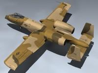 3d model a-10 thunderbolt ii peanut