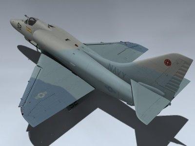 3d a 4e skyhawk gun