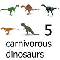 carnivorous dinos 3d model