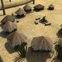 african village 3d max