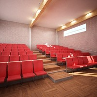 3d model lecture chairs