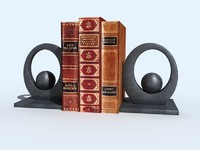 bookend oval books 3d model