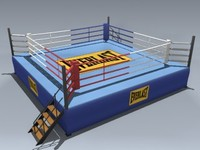 boxing ring 3d max
