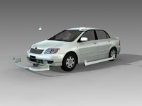 toyota corolla 3d model