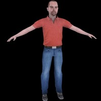 everyday male casual unrigged 3d model