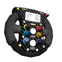 low poly f1 steering wheel