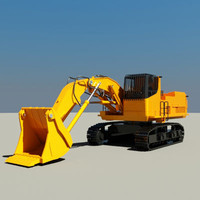 3d model shovel industrial picker