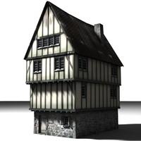 3d medieval building