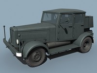 german wwii hanomag ss-100 3ds