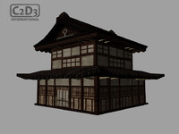 historic shinto temple 3d ma