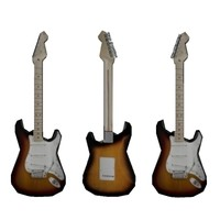 3d stratocaster guitar model