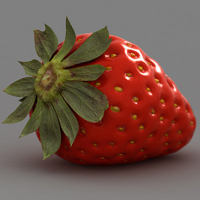 Strawberry Model 3d 3d Strawberry Model