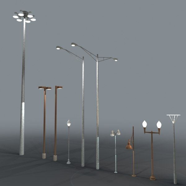 Street Objects 3d 3ds Collection By DigitalX