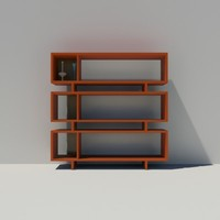 bookshelf modular shelving 3ds