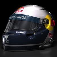 3d sebastian vettel helmet 2008 model