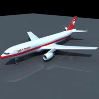 3d model airbus 300 canada