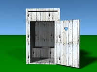 free outhouse 3d model