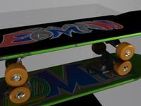 skateboard skate 3d model