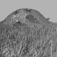 alien grassy hill grass 3d 3ds