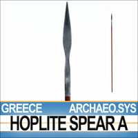 Greek Hoplite Spear Model A - ARCHAEO.SYS 3D