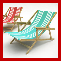 3d model of beach chair