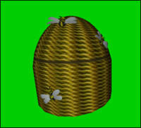 3d decorative bee hive basket