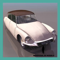 citroen ds french sedan 3d model