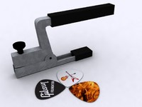 Guitar Capo & Plectrum