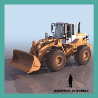 fiatallis loader fr 130 3d model