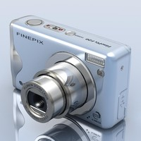 3d model of fujifilm finepix f20 photocamera