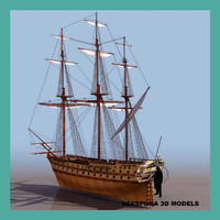 3d le glorieux french ship