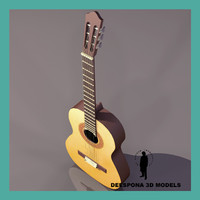 3d classical spanish guitar