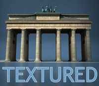 3ds max brandenburg gate berlin