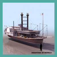3d mississippi queen steamboat model