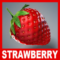 ripe strawberry 3d model
