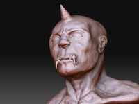 3d deamon head model