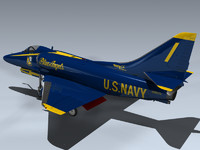a-4f skyhawk blue angels 3d model